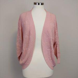 BB Dakota Women's Pink Valerie Loose Knit Cardigan